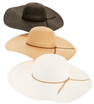 a43d79c17fb57 Time and Tru Women s Straw Floppy Hat 3-pack