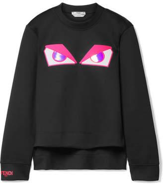 Fendi Wonders Appliquéd Ponte Sweatshirt - Black