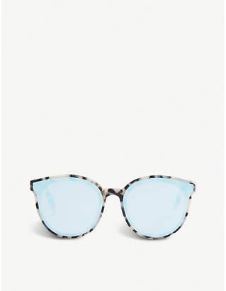 Gentle Monster Ladies Brown and White Black Peter Acetate Sunglasses