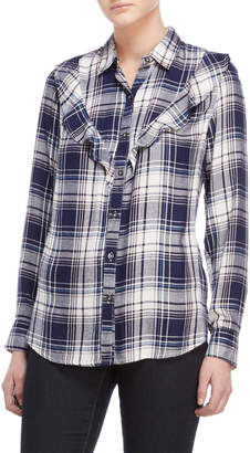Jessica Simpson Petunia Ruffled Plaid Shirt