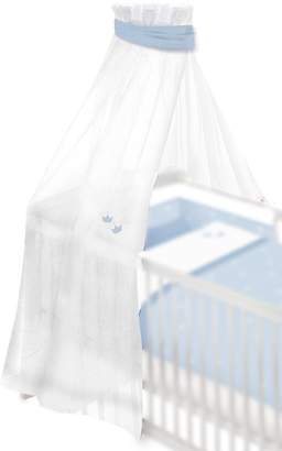 Camilla And Marc BabyCenter Träumeland TT12404 Cot Canopy with Small Embroidered Crowns 160 x 300 cm Blue