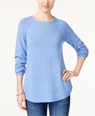 Karen Scott Cotton Curved-Hem Sweater, Created for Macy's $46.50 thestylecure.com