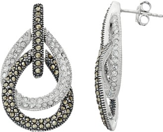 Lavish By Tjm Lavish by TJM Sterling Silver Crystal & Marcasite Teardrop Earrings