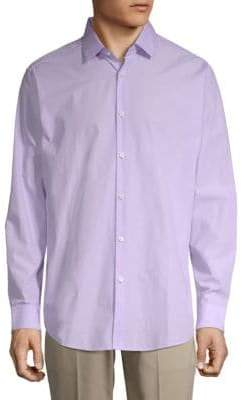 Theory Spread Collar Long Sleeve Cotton Shirt