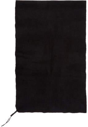 Boris Bidjan Saberi Black Cashmere Foul2 Scarf