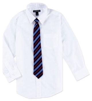George Boys Packaged Dress Shirt-Tie