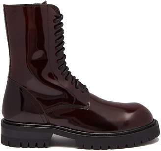 Ann Demeulemeester Polished leather ankle boots