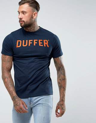 The DUFFER of ST. GEORGE Logo T-Shirt In Navy