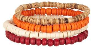 Public Opinion Wood Bead Bracelets - Set of 4