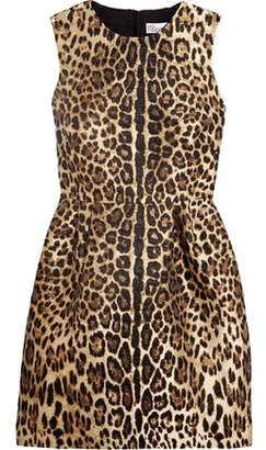 RED Valentino Leopard Lamé-Jacquard Mini Dress