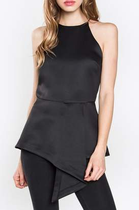 Sugar Lips Asymmetrical Peplum Tank