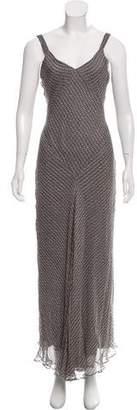 Calvin Klein Collection Polka Dot Print Silk Dress