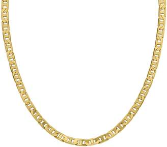 "Italian Gold 20"" Men's Concave Anchor Link Chain, 38.3g, 14K"