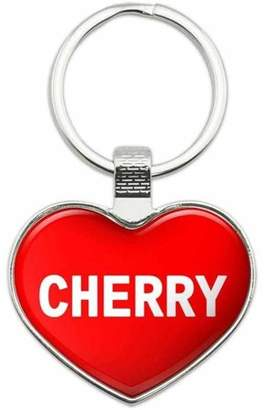 Generic Cherry - Names Female Metal Heart Keychain Key Chain Ring, Red