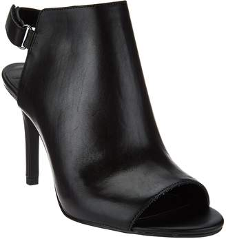 Halston H By H by Peep Toe Slingback Leather Bootie - Ivy