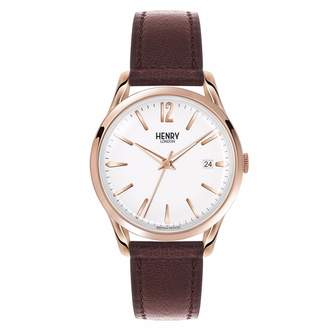 Richmond Henry London - Unisex 39mm Leather Watch