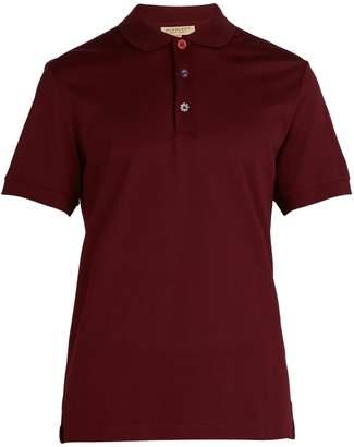 Burberry Painted-button Oxford cotton-piqué polo shirt