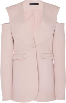 Sally LaPointe Cold-Shoulder Plunging V-Neck Blazer Size: 0