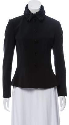 Ralph Lauren Black Label Wool Fur-Trimmed Blazer