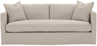 One Kings Lane Shaw Bench-Seat Slipcover Sofa - Greige Crypton