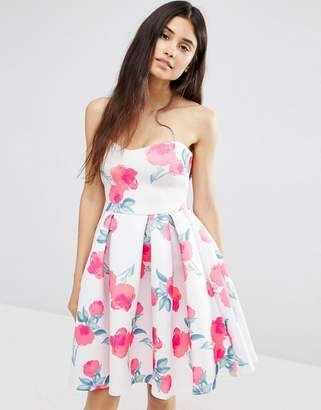 Oh My Love Sweetheart Panel Floral Dress