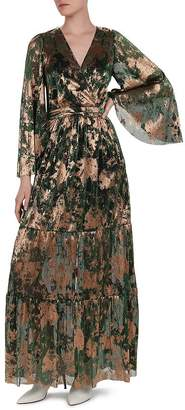 BA&SH Vianca Metallic Maxi Dress