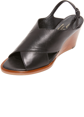 Robert Clergerie Glenn Slingback Wedges $595 thestylecure.com