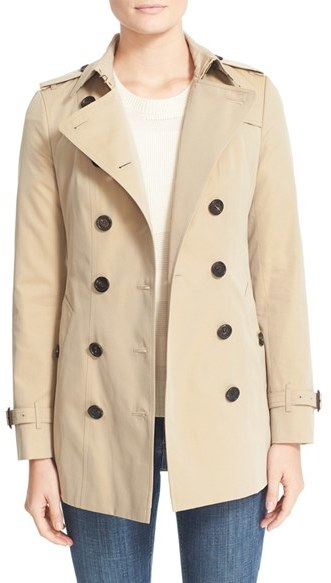 Women's Burberry Sandringham Short Slim Trench Coat