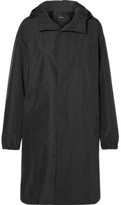 Helmut Lang Oversized Hooded Shell Raincoat - Black