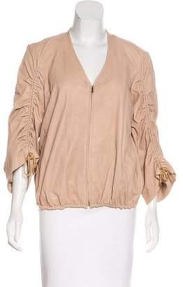 Diane von Furstenberg Nettie Leather Jacket