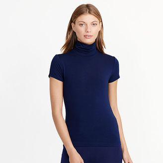 Ralph Lauren Jersey Short-Sleeve Turtleneck $69.50 thestylecure.com