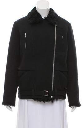 IRO Lamb-Trimmed Boxy Jacket