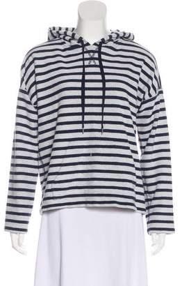 Alexander Wang Striped Hooded Sweatshirt