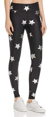 Terez Foiled Silver Star Print Leggings