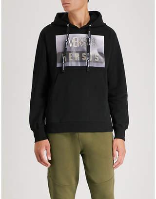 Versace Versus Triple-logo cotton-jersey hoody