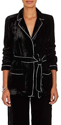 Barneys New York Women's Velvet Robe Jacket