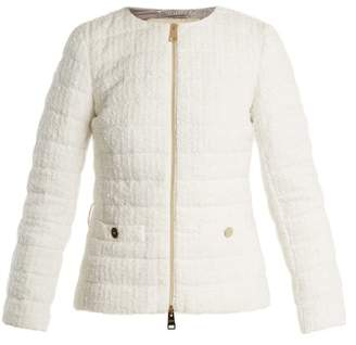Herno (ヘルノ) - HERNO High-neck quilted-bouclé jacket