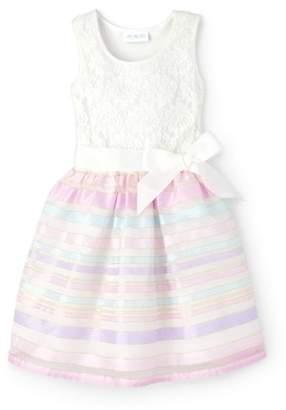 b9ec9d6027a1 Children's Place The Sheer Ribbon Stripe Easter Dress (Little Girls & Big  ...