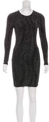 Torn By Ronny Kobo Metallic Bodycon Dress
