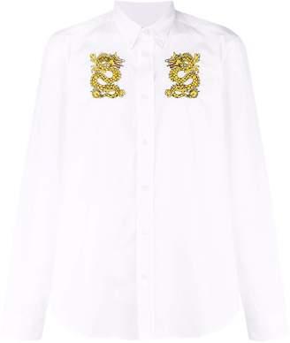 Kenzo embroidered dragon shirt