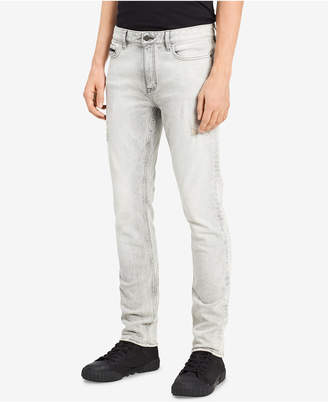 Calvin Klein Jeans Men's Electronic Gray Skinny Fit Stretch Jeans
