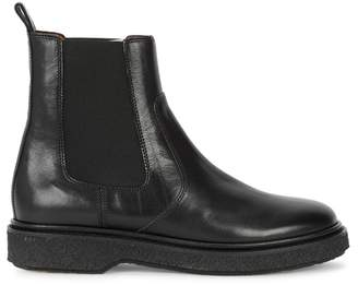 Isabel Marant Celtyne Black Leather Ankle Boots