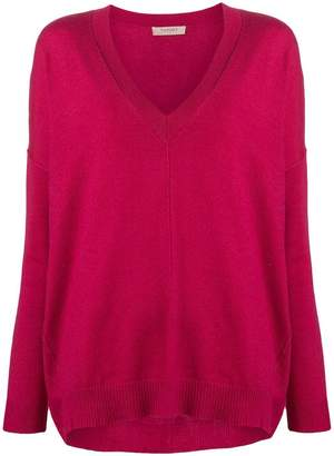 Twin-Set loose fit V-neck sweater