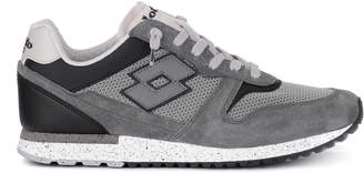 Lotto Leggenda Lotto Tokyo Ginza Black And Grey Suede And Fabric Sneaker