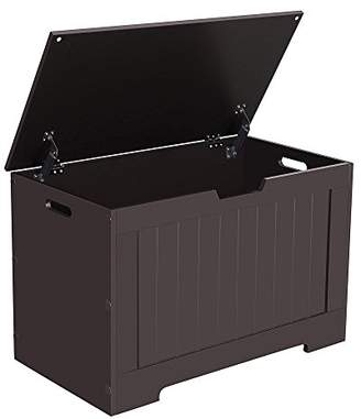 Trunks SONGMICS Lift Top Entryway Storage Chest/Bench with 2 Safety Hinge