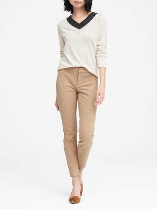 Banana Republic Petite Sloan Skinny-Fit Brushed Pant