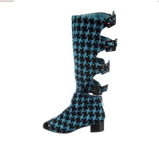Chanel Turquoise Patent leather Boots