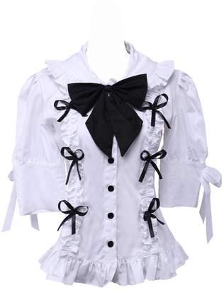 8b53dd84fc5700 an tai na  Antaina Cotton Ruffle Lace Bow Tie Sweet Victorian Lolita Shirt