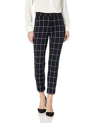 Amazon Essentials Women's Patterned Bi-Stretch Ankle Pant