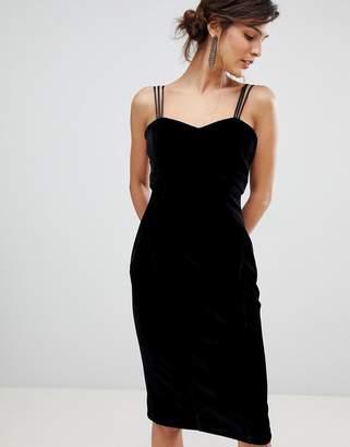 Coast Scarlett velvet slip dress